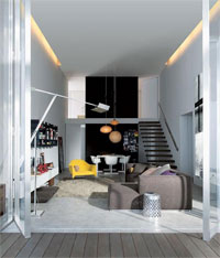 Современный дизайн городской квартиры от Poliform